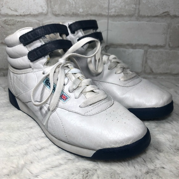 Classic High Top Vtg Pearlized Leather Sneakers